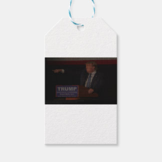 Donald Trump Image Made of Dollar Signs Gift Tags