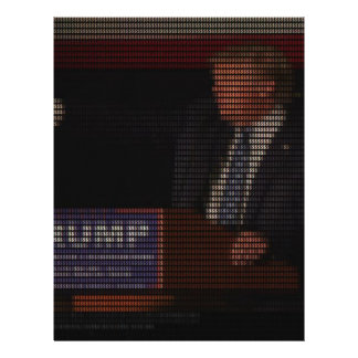 Donald Trump Image Made of Dollar Signs Letterhead