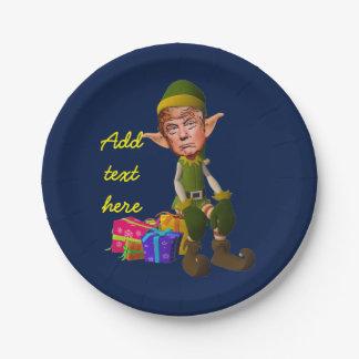 Donald Trump imp 7 Inch Paper Plate