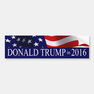 Donald Trump in 2016 USA Flag Bumper Sticker
