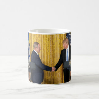 Donald Trump In Israel With Bibi Netanyahu Coffee Mug