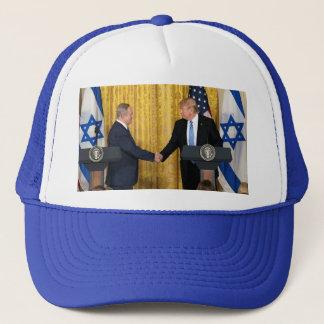 Donald Trump In Israel With Bibi Netanyahu Trucker Hat