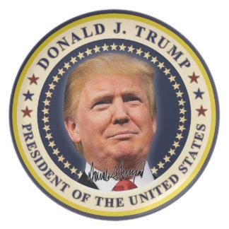 Donald Trump Inauguration Gold Stars Souvenir Plate