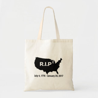 Donald Trump, Inauguration RIP America Tote Bag