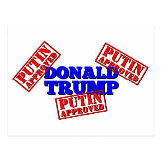 Donald Trump is Putin Approved Postcard