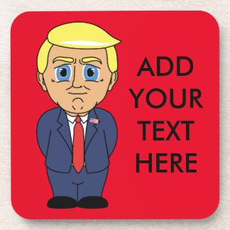Donald Trump Looking Smug Beverage Coaster