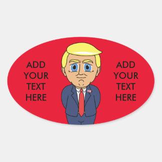 Donald Trump Looking Smug Oval Sticker