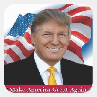 Donald Trump Make America Great Again Square Sticker
