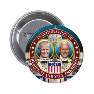 DONALD TRUMP MIKE PENCE PRESIDENTIAL INAUGURATION 2 INCH ROUND BUTTON