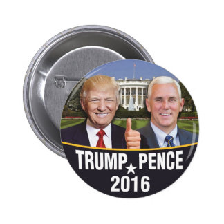 Donald Trump Mike Pence Whitehouse Campaign Button