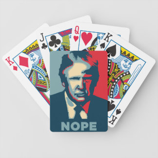 donald trump nope bicycle playing cards