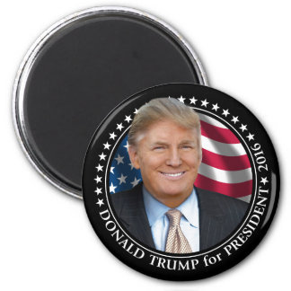 Donald Trump Photo - President 2016 2 Inch Round Magnet