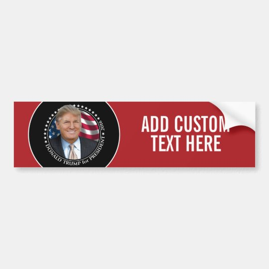 Donald Trump Photo - President 2016 Bumper Sticker