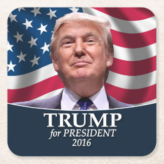 Donald Trump Photo - President 2016 Square Paper Coaster