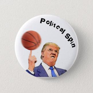 Donald Trump pin back button   Spinning Basketball