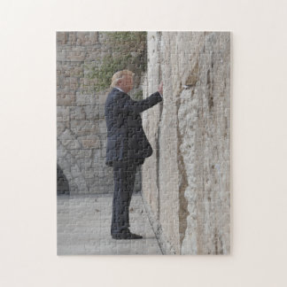 Donald Trump Places Note In Western Wall Jigsaw Puzzle