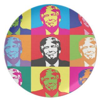 Donald Trump Pop Art Plate