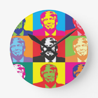 Donald Trump Pop Art Round Clock