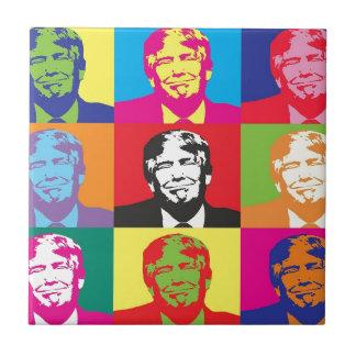 Donald Trump Pop Art Tile