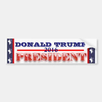 Donald Trump President 2016 Bumper Sticker