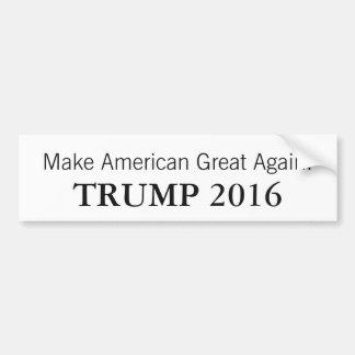 Donald Trump President 2016 Car Bumper Sticker