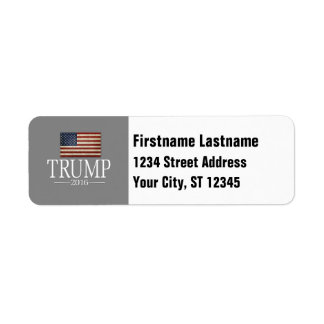 Donald Trump - President 2016 Return Address Label
