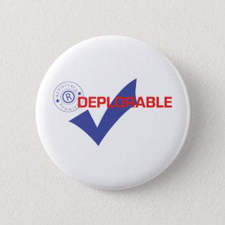 Donald Trump Registered Deplorable Button