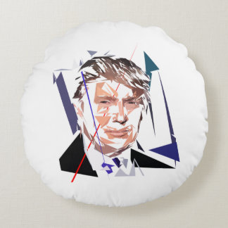 Donald Trump Round Pillow