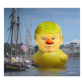 Donald Trump Rubber Yellow Duck Photo Enlargement