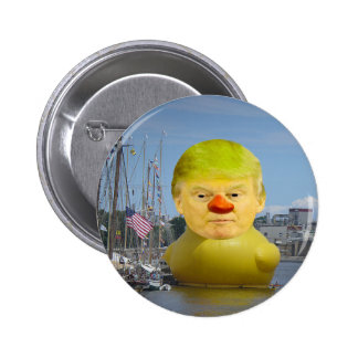 Donald Trump Rubber Yellow Duck Round Button