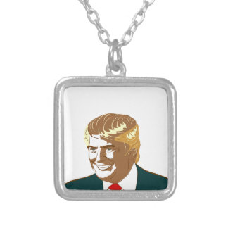 Donald Trump Silver Plated Necklace