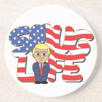 Donald Trump Smug Life Beverage Coasters