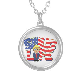 Donald Trump Smug Life Silver Plated Necklace