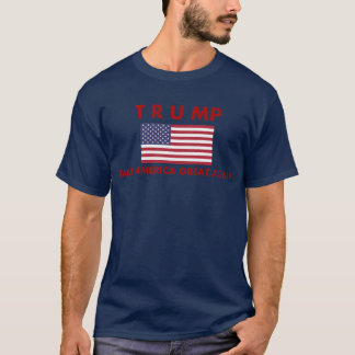 Donald Trump T-Shirt with American Flag