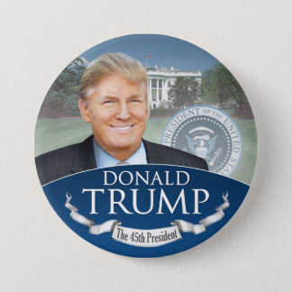 Donald Trump the 45th President - Inauguration 3 Inch Round Button