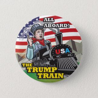 Donald TRUMP TRAIN Political American Movement USA 2 Inch Round Button