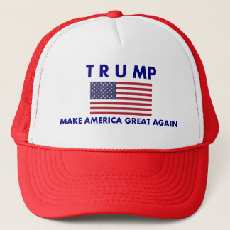 Donald Trump Trucker Cap American Flag