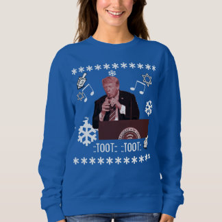 Donald Trump Ugly Hanukkah Playing bottle sweater