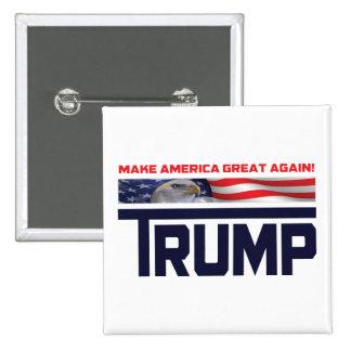 Donald Trump US Flag 2 Inch Square Button