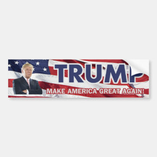 Donald Trump US Flag Bumper Sticker