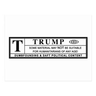 Donald Trump Warning Label Postcard
