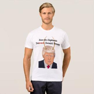 Donald Trump with Elephant Trump Devil Horns T-Shirt