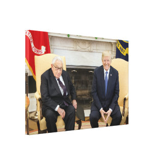 Donald Trump With Henry Kissinger Canvas Print