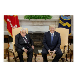 Donald Trump With Henry Kissinger Poster