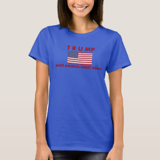 Donald Trump Women's T-Shirt with American Flag