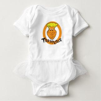 Donald Trumpeteer Caricature Baby Bodysuit