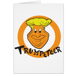 Donald Trumpeteer Caricature Card