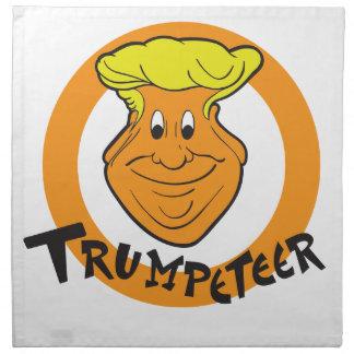 Donald Trumpeteer Caricature Napkin