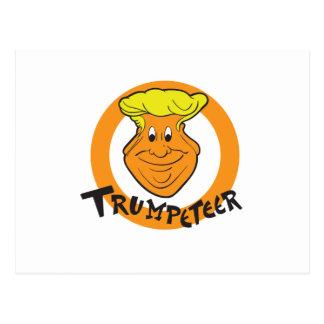 Donald Trumpeteer Caricature Postcard