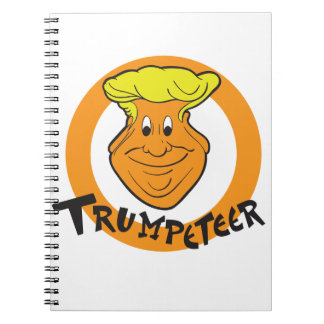 Donald Trumpeteer Caricature Spiral Note Book